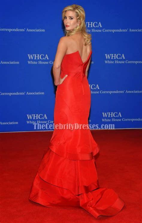 Ivanka Trump Red Mermaid Formal Dress 2015 White House