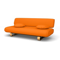 Allerum Sofa bed Mandarin Orange Panama Cotton
