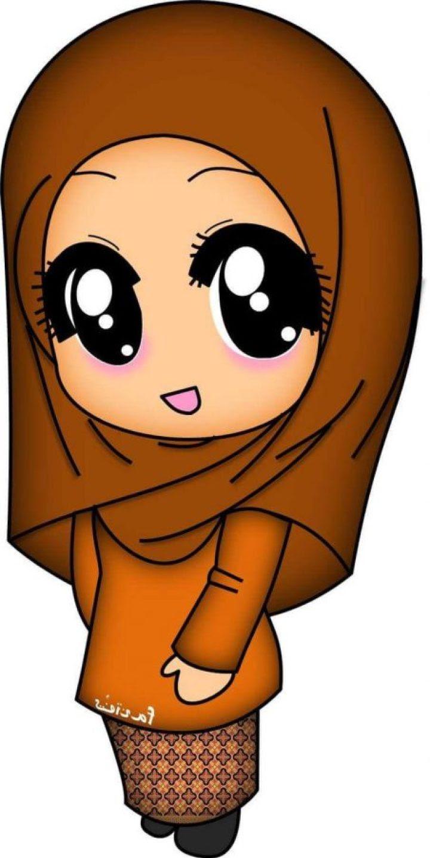 Gambar Kartun Muslimah Lucu Gamis Batik Kartun Muslimah