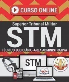 Curso Online concurso do STM cargo tecnico