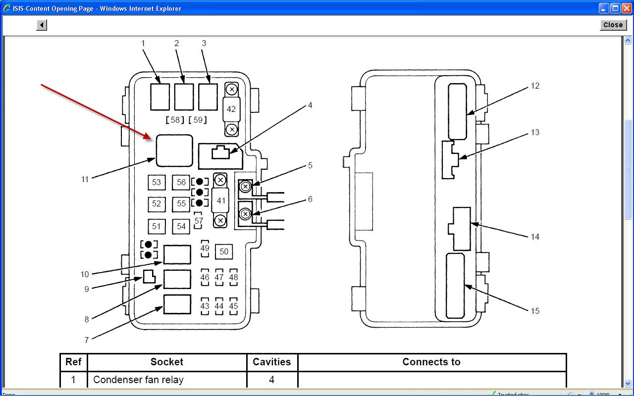 8436 2006 Honda Odyssey Fuse Diagram Wiring Diagram Library