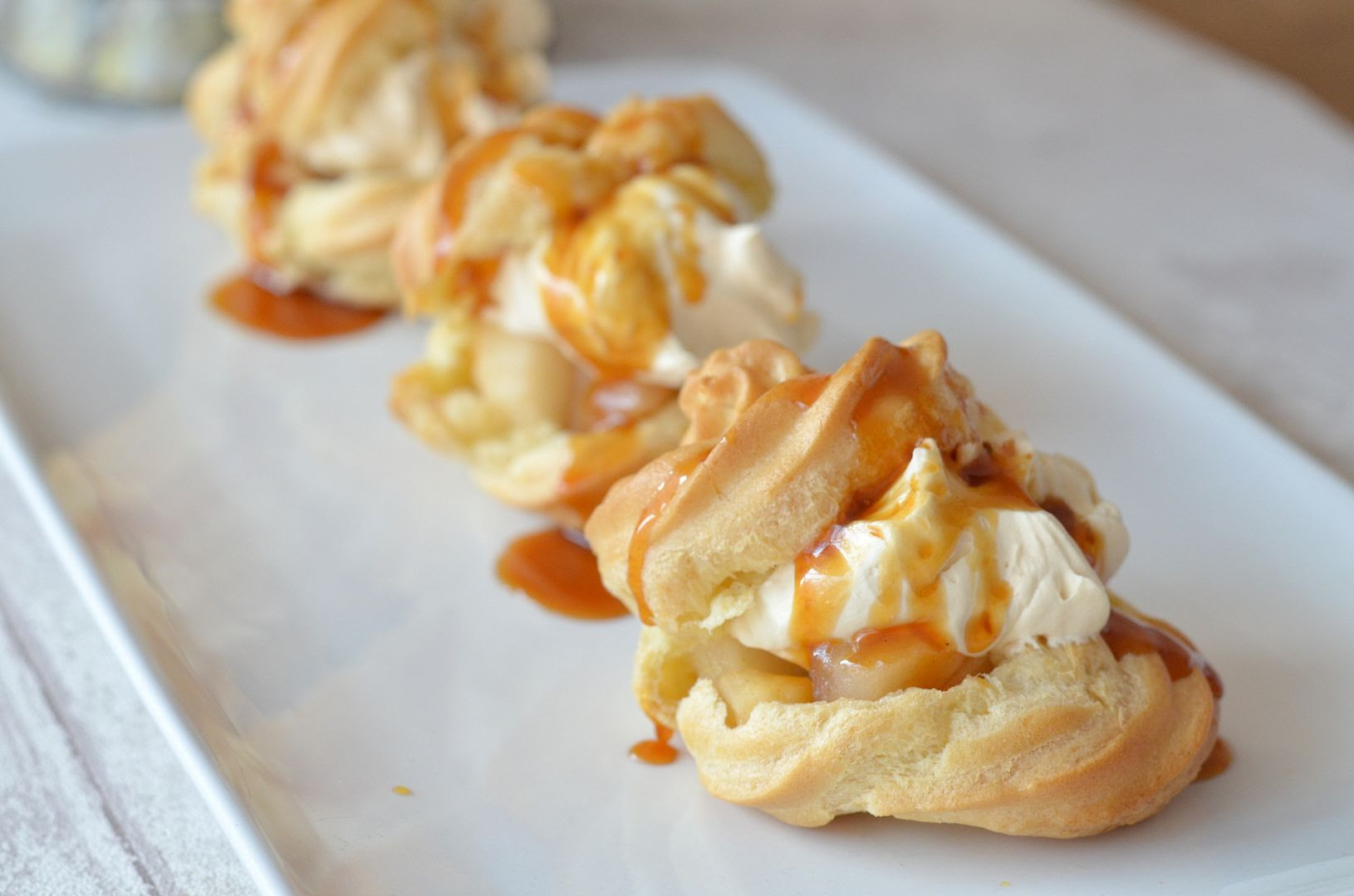 Caramel Apple Choux Buns