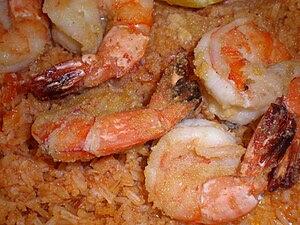 Camarones al mojo de ajo, from Compadres resta...