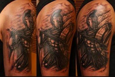 Dark Ink Greek Tattoo On Half Sleeve 2019 Tattoos Ideas