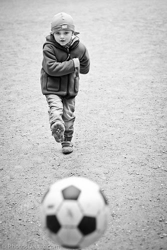 Decisive moment for a soccer striker - Fuji X-Pro 1