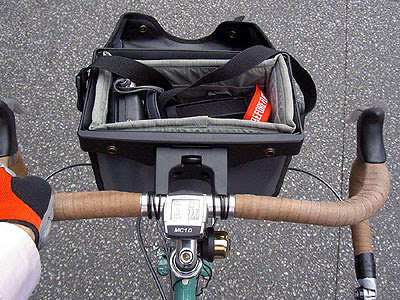 Ortlieb front bag with camera insert