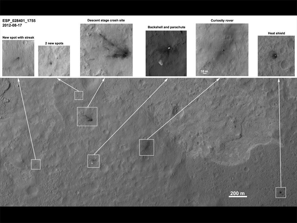Overhead HiRISE pass of Mars