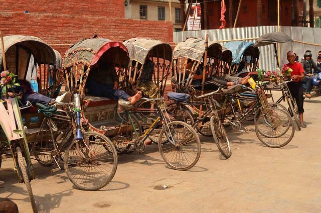 Kathmandu Rickshaws - fancy tricycles