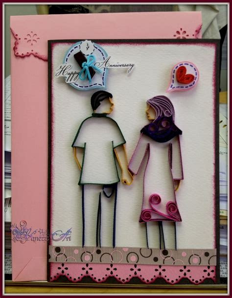 17 Best images about Wedding Anniversaries Quilled Cards