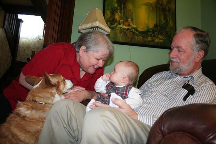 Nana, Grampa, Morgan and Paige