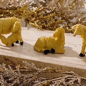 Set de 3 ovejas de 5cm