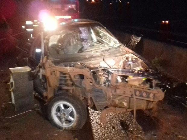De acordo com a PRF, motorista não tinha habilitação para dirigir e nenhum dos ocupantes do veículo usava o cinto de segurança (Foto: PRF/ Divulgação)