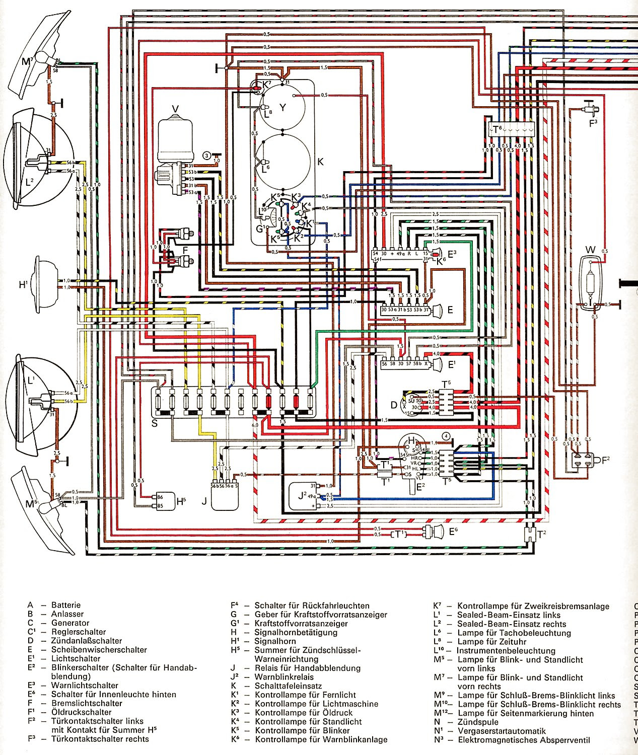 1971 Vw Bug Ignition Wiring 06 Ford Taurus Fuse Box Diagram For Wiring Diagram Schematics