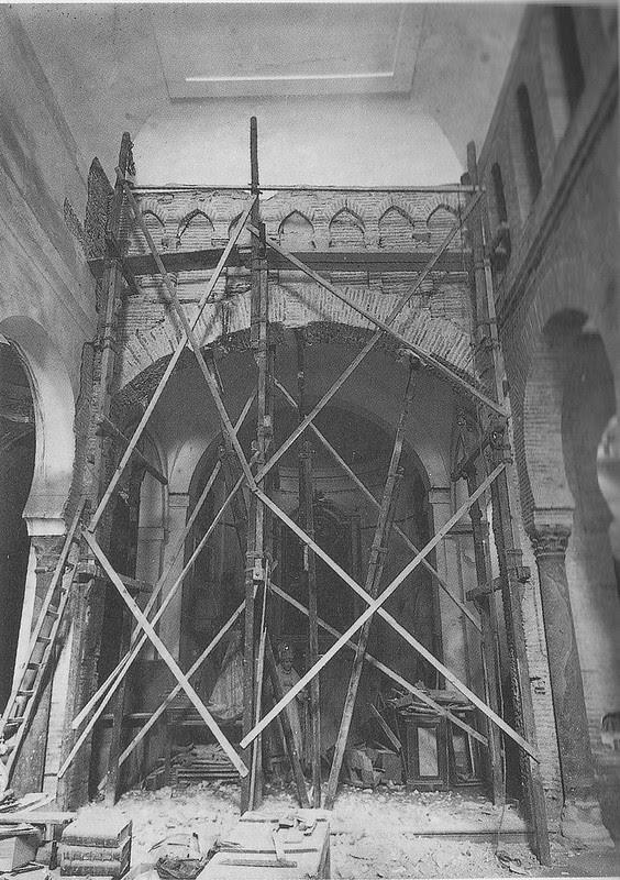 Iglesia de Santa Eulalia a comienzos del siglo XX. Fondo Rodríguez, Archivo Histórico Provinicial, Junta de Comunidades de Castilla-La Mancha