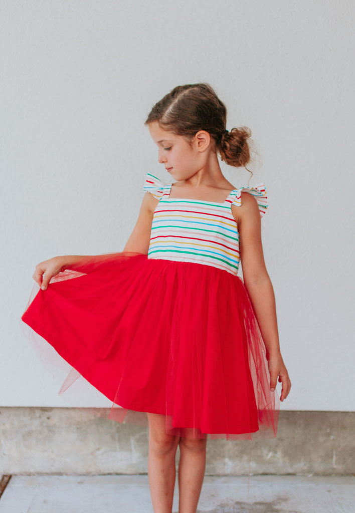 tulle rainbow party theme dresses