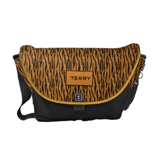 Personalized Tiger stripe theme rickshawmessengerbag