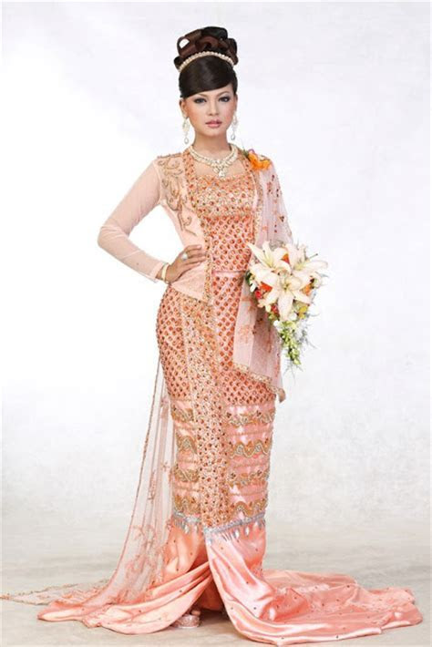 1000  images about Myanmar Wedding Dress on Pinterest