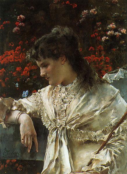 File:Stevens Alfred Reverie c1878 Oil On Canvas.jpg