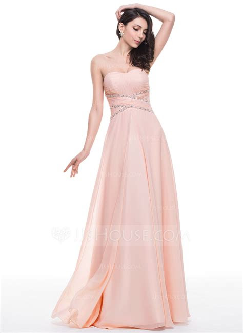 lineprincess sweetheart floor length chiffon prom