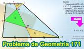 Problema de Geometría 171 (ESL): Trapecio, Puntos Medios de las bases y un lado no paralelo, Triángulos, Áreas.