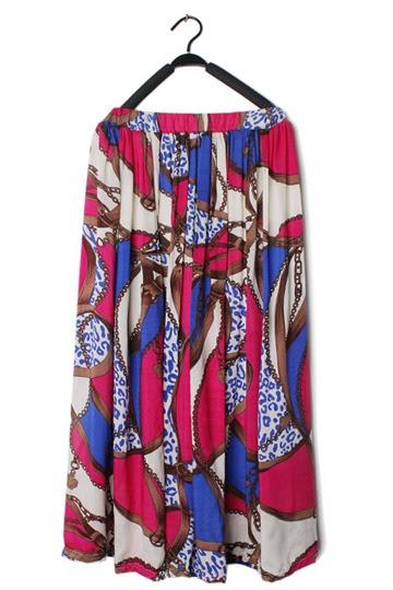 Bohemian Flower Print Ankle Dress