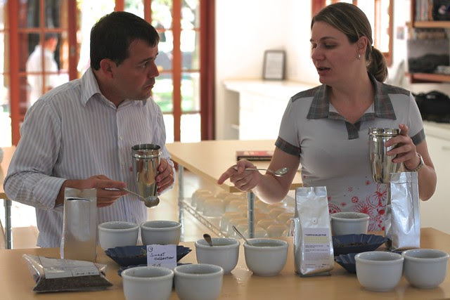 Cupping some TCC coffees