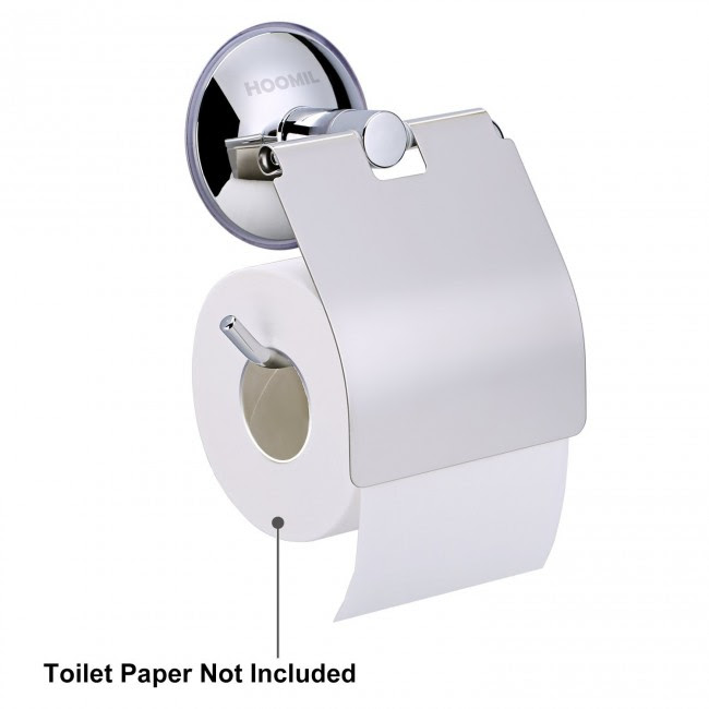 Hoomil Wall Mounted Toilet Paper Holder Vacuum Suction Cup