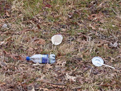 Dasani water bottle left as trash in a national wildlife refuge