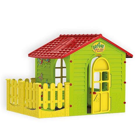 spielhaus fuer drinnen und draussen mit zaun gartenhaus