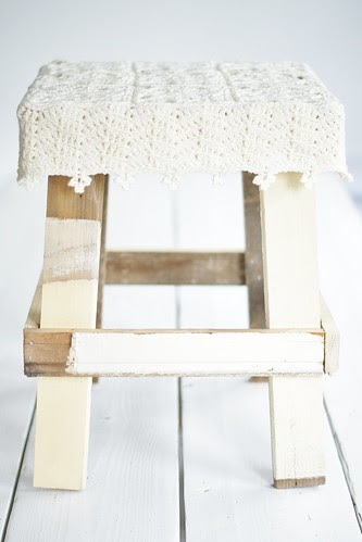 sunny white summer stool by wood & wool stool
