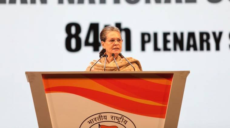 Congress Plenary Session: Sonia Gandhi takes on PM Modi, rallies party behind Rahul