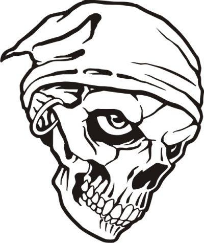 Dibujo De Calavera Pirata Dibujo Para Colorear De Calavera Pirata