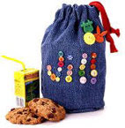 denim lunch sack