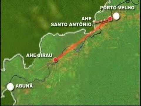 usinas no rio Madeira