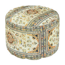 Oriental rug in light colors round pouf