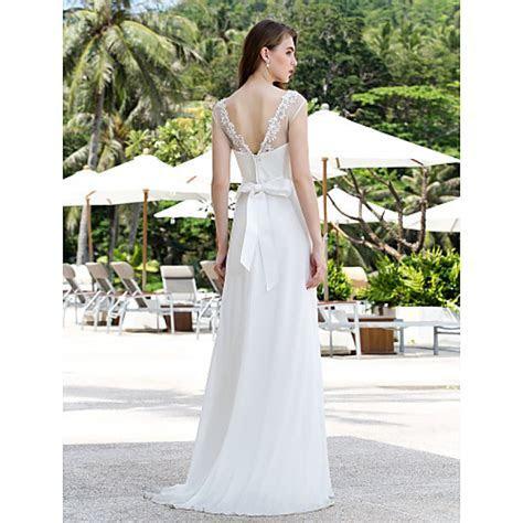 A line Plus Sizes Wedding Dress   Ivory Sweep/Brush Train