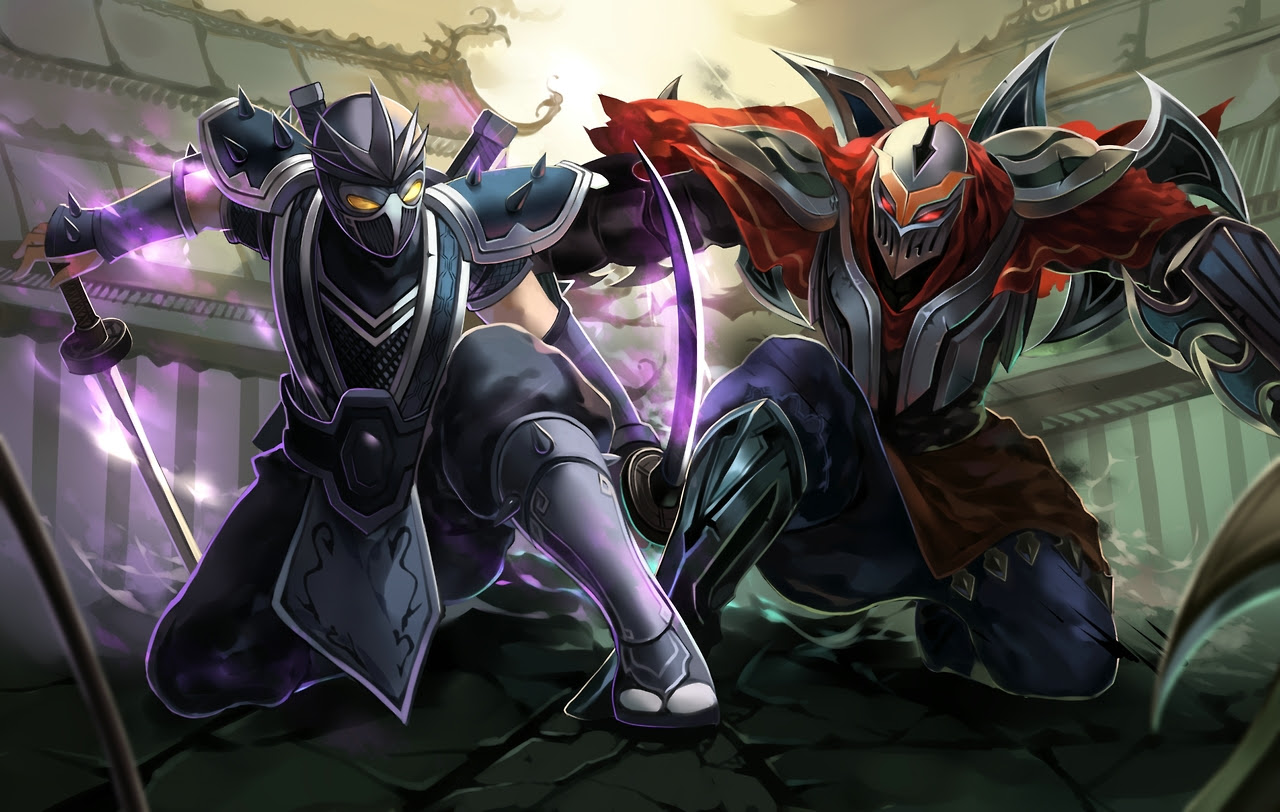 Shen And Zed League Of Legends Wallpaper 36423065 Fanpop
