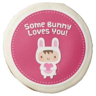 Cute Bunny Loves You Love Confession Sugar Cookie