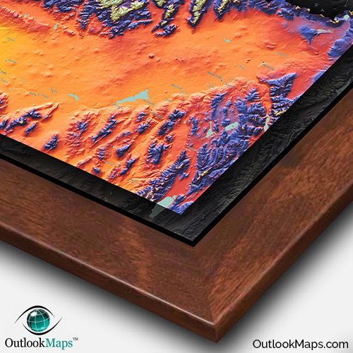 Colorful Idaho Map Physical Topography Of Rocky Mountains