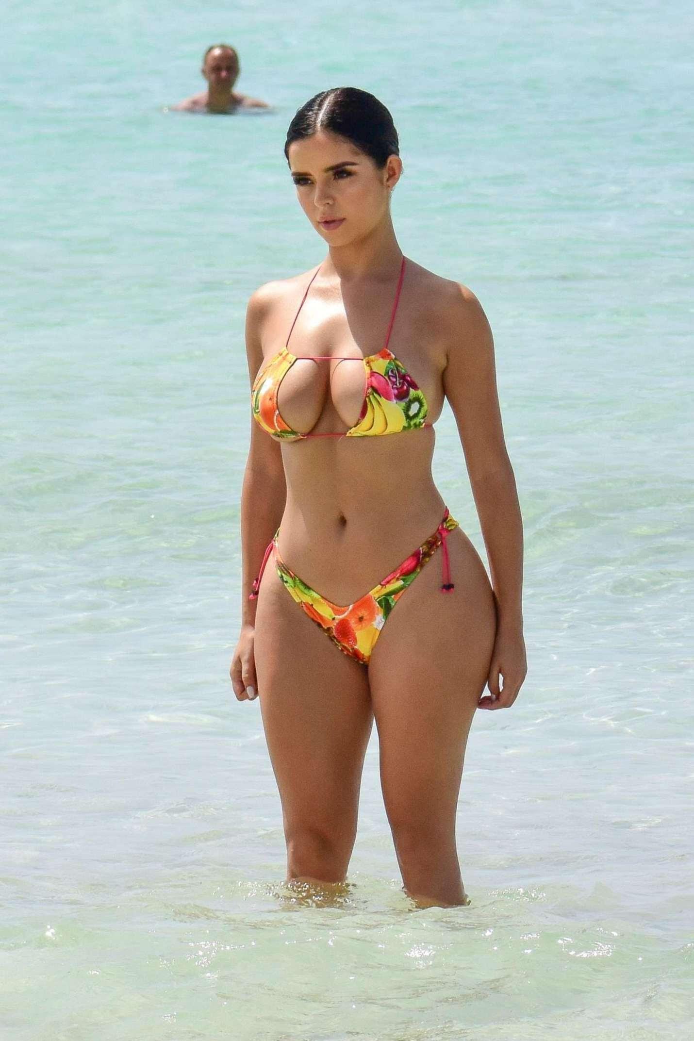 Demi Rose in Bikini on ihe beach in Ibiza