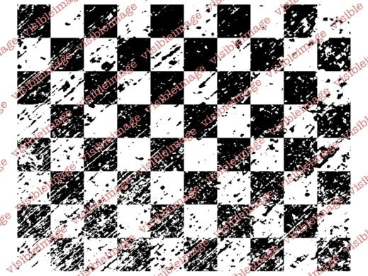 0 Visible Image Worn Chequered Background