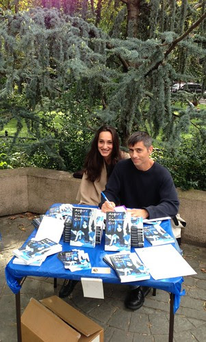 Vince and his wife, Jersey City Book Festival