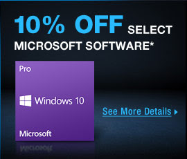 10% OFF OFF Select Microsoft Software