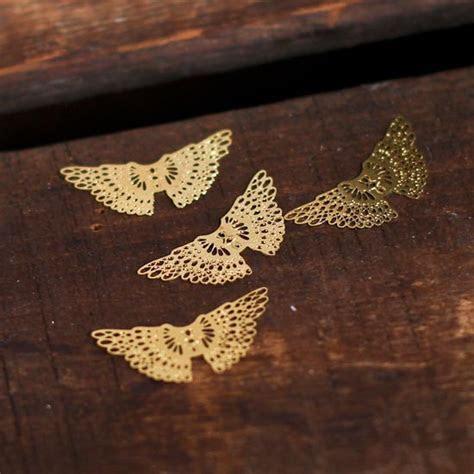 Gold Filigree Angel Wings   Angel Wings   Doll Supplies