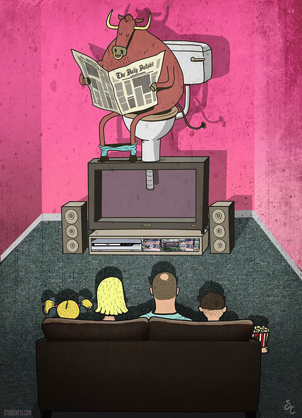 Satirical Illustrations Addiction to Technology20