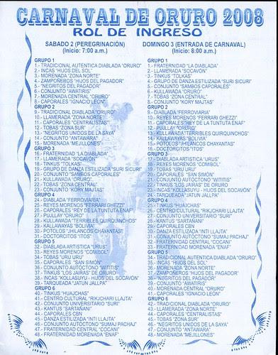 Rol del Carnaval 2008
