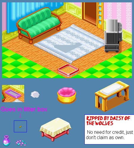 Sprite Database : Living Room