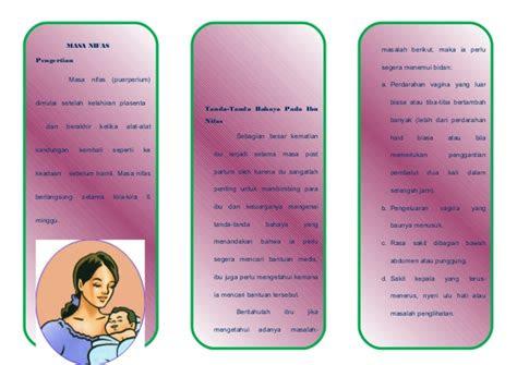 leaflet tanda bahaya nifas  bayi