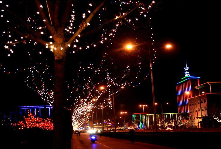 Wholesale 100 LED Colorful energia Solar String Fairy Lights Outdoor Waterproof Christmas led