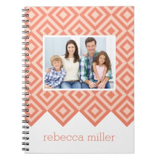 Diamond Pattern Custom Notebook Note Book